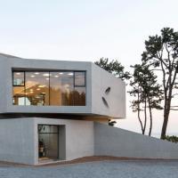 Gijang Waveon Restaurant by Kwak Heesoo IDMM Architects