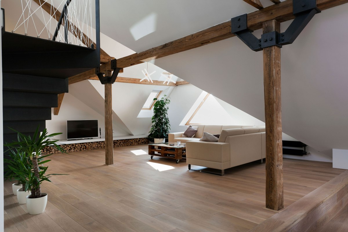 Attic Loft Reconstruction by B² Architecture