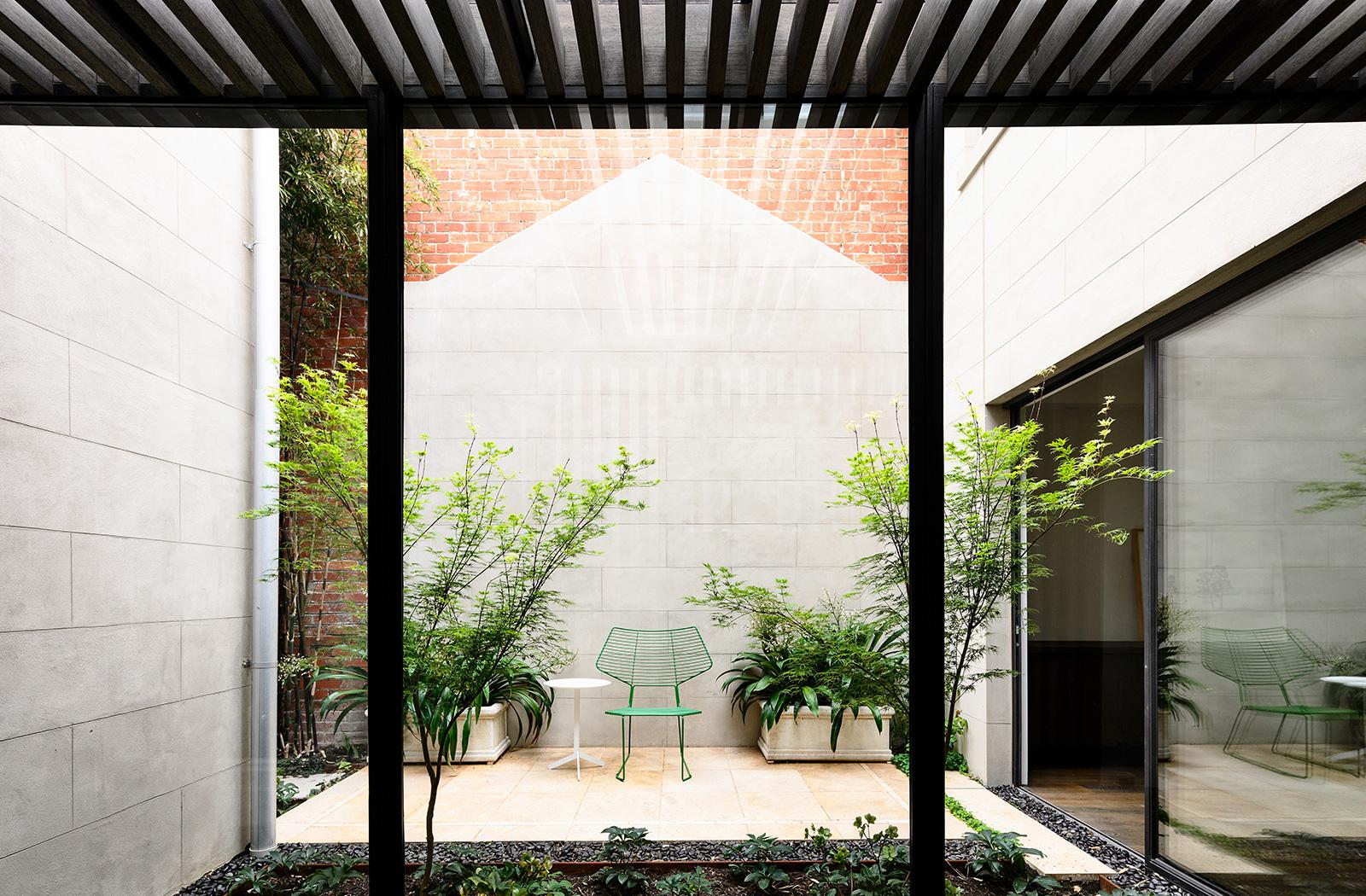 Wolveridge Architects  East Melbourne Heritage Victorian Terrace House Conversion Renovation Townhouse Development Courtyard  Award Winning 06