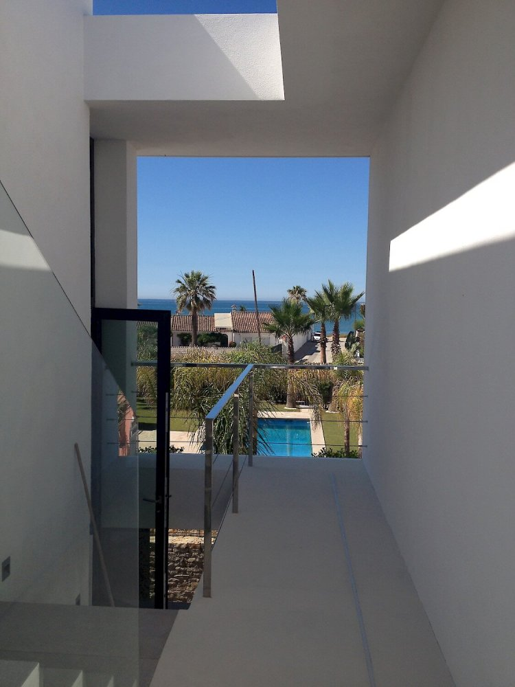 123dv-cool-blue-villa-stairwell-with-sea-view