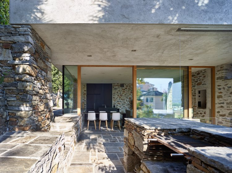 Lake house in Ascona by Wespi de Meuron Romeo architects 17
