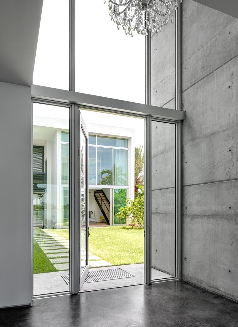 MIAMI, FL - JUNE 21, 2014: Home of Jerome and Isabelle Peribere in Miami, Florida. Architect, Max Strang.