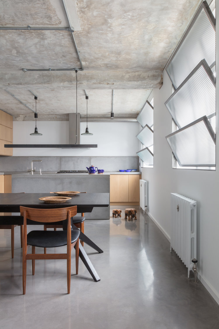 Union-Wharf-Islington-London-Exposed-Concrete-Kitchen-Dining-Design-Interior-Architect
