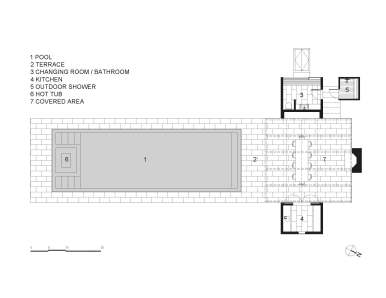 Further Lane Pool House by Robert Young Architects FLOOR-PLAN