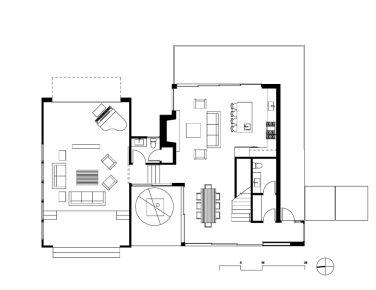 Oak Pass Guest House by Walker Workshop FIRST FLOOR 1-8 1_2000