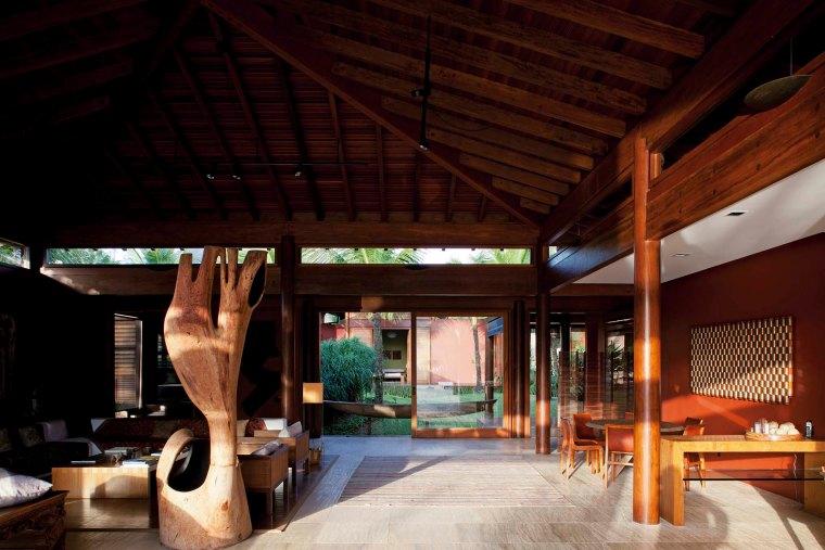 Social area view from veranda