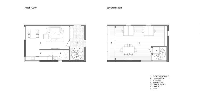 Sunset Valley Residence by Arbib Hughey Design PLANS