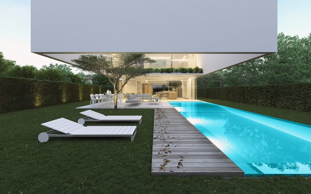 The house of the three trees by Gallardo LlopisArquitectos