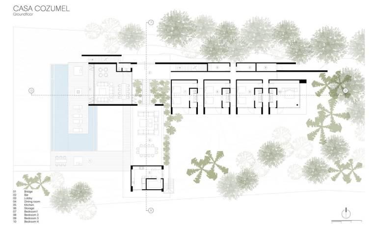 Cozumel House by Sordo Madaleno ArquitectosPLAN
