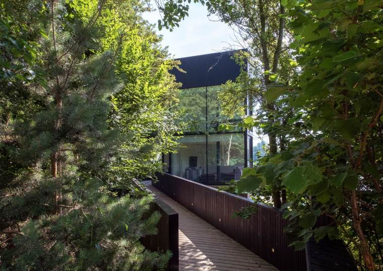Glass Villa on the lake by Mecanoo Architects 08