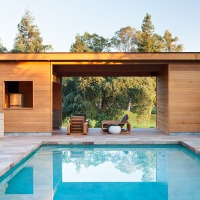 Modern Pool House by Klopf Architecture